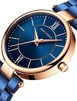 baratos -MINI FOCUS Mulheres Relógio de Pulso Japanês Relógio Casual Aço Inoxidável Banda Luxo / Minimalista Preta / Azul / Marrom