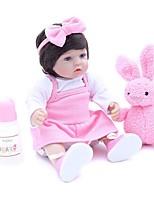 Недорогие -OtardDolls Куклы реборн Девочки 16 дюймовый как живой, Искусственные имплантации Голубые глаза, Гофрированные и запечатанные ногти Детские Девочки Подарок