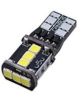 abordables -SO.K 2pcs T10 Automatique Ampoules électriques 3 W SMD 3030 400 lm 9 LED Feux de Circulation Diurnes For Universel Toutes les Années