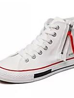 cheap -Men's Light Soles Canvas Spring Sneakers White / Black