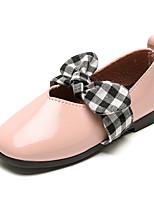 Недорогие -Девочки Обувь Полиуретан Весна лето Удобная обувь / Детская праздничная обувь На плокой подошве Для прогулок для Для подростков Белый / Черный / Розовый