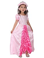 cheap -Princess Costume Girls' Halloween / Carnival / Children's Day Festival / Holiday Halloween Costumes Pink Solid Colored / Halloween Halloween