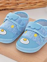 Недорогие -Мальчики / Девочки Обувь Хлопок Весна & осень Обувь для малышей Кеды На липучках для Дети Синий / Розовый