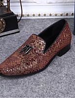 abordables -Hombre Zapatos formales Cuero Verano Confort / Zapatos formales Zapatos de taco bajo y Slip-On Dorado / Amarillo / Azul