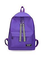 Недорогие -Жен. Мешки холст рюкзак Молнии Красный / Серый / Лиловый