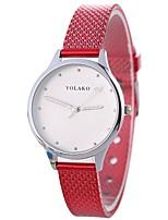 abordables -Xu™ Mujer Reloj de Pulsera Chino Nuevo diseño / Reloj Casual / Adorable PU Banda Casual / Moda Negro / Blanco / Azul