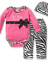 cheap -Baby Girls' Print / Color Block Long Sleeve Romper