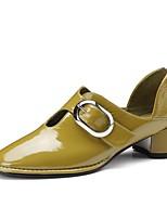 Недорогие -Жен. Обувь Наппа Leather Весна лето Удобная обувь Обувь на каблуках На толстом каблуке Черный / Серый / Желтый