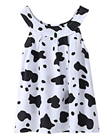 cheap -Kids / Toddler Girls' Black & White Polka Dot / Color Block Sleeveless Dress