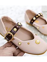 Недорогие -Девочки Обувь Полиуретан Весна & осень Удобная обувь / Детская праздничная обувь На плокой подошве для Бежевый / Розовый / Хаки