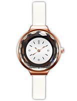 baratos -Mulheres Relógio de Pulso Chinês Relógio Casual PU Banda Fashion Preta / Branco / Azul