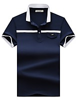 cheap -Men's Basic Polo - Solid Colored / Letter