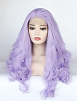 cheap -Synthetic Lace Front Wig Wavy Layered Haircut / Middle Part 150% Density Synthetic Hair Heat Resistant / Elastic / Women Purple Wig Women's Long Lace Front / Yes