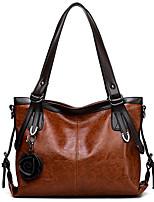 cheap -Women's Bags PU(Polyurethane) Tote Flower Black / Red / Brown