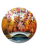 abordables -Pintura al óleo pintada a colgar Pintada a mano - Paisaje Contemporáneo / Modern Lona