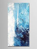 abordables -Peinture à l'huile Hang-peint Peint à la main - Abstrait / Vacances Moderne Toile
