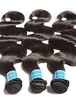 Недорогие -3 Связки Бразильские волосы / Бирманские волосы Естественные кудри Не подвергавшиеся окрашиванию Человека ткет Волосы / Плетение 8-28 дюймовый Ткет человеческих волос Машинное плетение