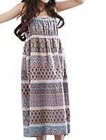 abordables -Niños Chica Un Color / Floral Sin Mangas Vestido