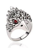 cheap -Men's Hollow / 3D Ring - Silver Plated, Stainless Owl Vintage, Trendy, Rock 7 / 8 / 9 Silver For Carnival / Club
