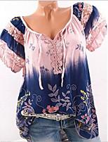 economico -T-shirt Per donna Per uscire Fantasia floreale