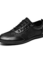 cheap -Men's Faux Leather Fall Comfort Sneakers Walking Shoes Black / Black / Red / Black / Blue
