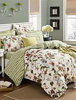 preiswerte -Bettbezug-Sets Geometrisch 100% Baumwolle Applikation 3 Stück