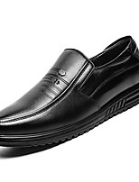 cheap -Men's PU(Polyurethane) Fall Comfort Loafers & Slip-Ons Black