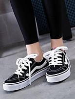Недорогие -Жен. Обувь Полотно Весна лето Удобная обувь Кеды На плоской подошве Закрытый мыс Белый / Черный / Красный