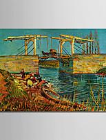 economico -Hang-Dipinto ad olio Dipinta a mano - Riproduzione Classico / Tradizionale Tela