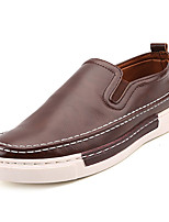 cheap -Men's PU(Polyurethane) Fall Comfort Loafers & Slip-Ons Gray / Brown / Khaki