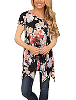 cheap -Women's Going out Loose Blouse - Floral / Geometric / Color Block