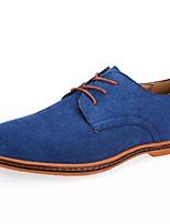 Недорогие -Муж. Замша / Полиуретан Осень Удобная обувь Туфли на шнуровке Темно-серый / Винный / Тёмно-синий