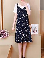 cheap -Women's Set - Solid Colored / Geometric Dress
