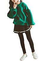 Недорогие -Дети Девочки Горошек / Контрастных цветов Длинный рукав Набор одежды