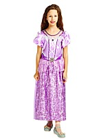 cheap -Princess Outfits Girls' Halloween / Carnival / Children's Day Festival / Holiday Halloween Costumes Purple Solid Colored / Halloween Halloween