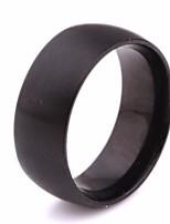 economico -Per uomo Classico / Alla moda Band Ring - Acciaio al titanio Creativo Alla moda, Semplice, Europeo 6 / 7 / 8 Nero Per Quotidiano / Strada
