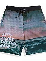 economico -Per uomo Costume nuoto a pantaloncino / Pantaloncini da mare Ultra leggero (UL), Asciugatura rapida, Traspirante Elastene / POLY Costumi da bagno Abbigliamento mare Boxer da surf / Pantaloni Frutta