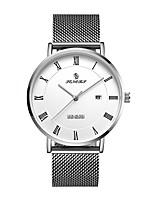 baratos -REBIRTH Homens Relógio Elegante / Relógio de Pulso Japanês Calendário / Relógio Casual Aço Inoxidável Banda Casual / Minimalista Preta / Prata