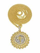 preiswerte -Herrn Kubikzirkonia Stilvoll / Kubanischer Link Anhängerketten / Ketten - Engelsflügel Luxus, Europäisch, Hip-Hop Gold, Silber 60 cm Modische Halsketten 1pc Für Geschenk, Strasse