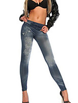 abordables -Mujer Diario Básico Legging - Geométrico Alta cintura