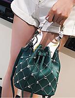 cheap -Women's Bags PU(Polyurethane) Tote Rivet Green / White / Black