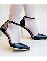 Недорогие -Жен. Обувь Полиуретан Весна Удобная обувь / Туфли лодочки Обувь на каблуках На шпильке Белый / Черный / Красный