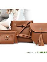 cheap -Women's Bags PU(Polyurethane) Bag Set 4 Pieces Purse Set Solid Blushing Pink / Brown / Wine