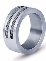 cheap -Men's Classic / Stylish Band Ring - Titanium Steel Creative Stylish, Simple, European 7 / 8 / 9 Silver For Daily / Street