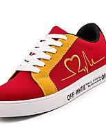 Недорогие -Муж. Полотно Осень Удобная обувь Кеды Контрастных цветов Желтый / Черно-белый / Черный / Красный