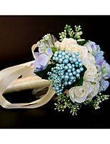 baratos -Bouquets de Noiva Buquês / Decorações Casamento / Festa de Casamento Poliéster / Seda / Espuma 11-20 cm