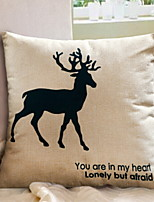 cheap -1 pcs Cotton / Linen Pillow, Animal Cartoon