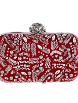 cheap -Women's Bags Polyester Evening Bag Beading / Crystals Blue / Black / Red