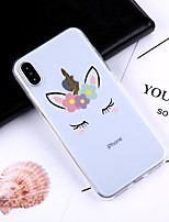 preiswerte -Hülle Für Apple iPhone X / iPhone 8 Plus Muster Rückseite Cartoon Design Weich TPU für iPhone X / iPhone 8 Plus / iPhone 8