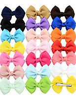 Недорогие -Швейные булавки Аксессуары для волос Шёлковая ткань рипсового переплетения парики Аксессуары Девочки 20pcs штук 7 см см На каждый день Украшения для волос обожаемый